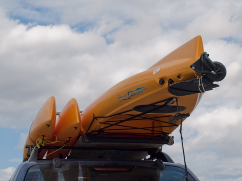 Kayaks on top of my Tucson